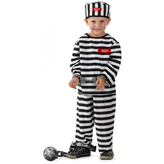 Gevangene kostuum voor jongens