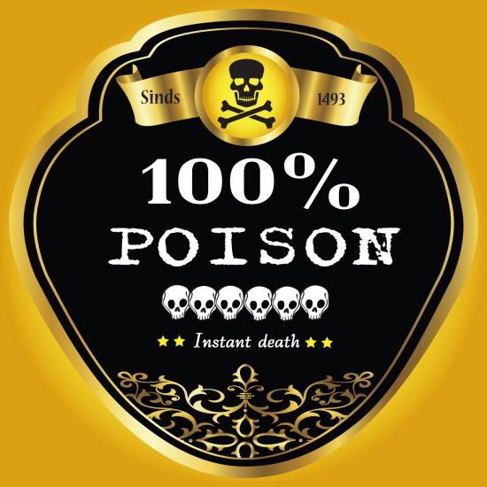 Giftige drank etiket