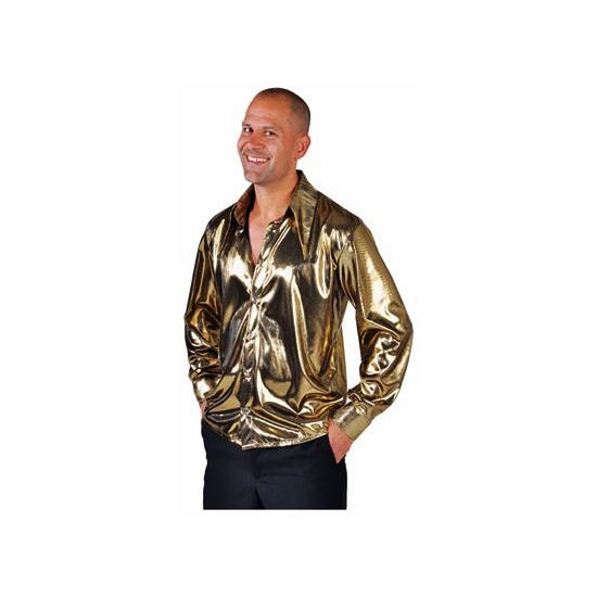 Glimmende gouden cabaret blouse voor heren