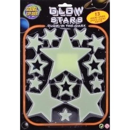 Glow in the dark sterren geel 13 stuks