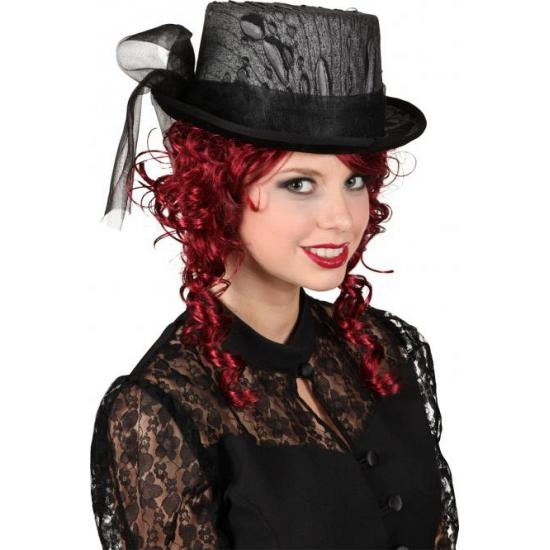 Gothic hoge hoed met kant