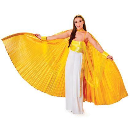 Gouden mega vleugels tot de enkels