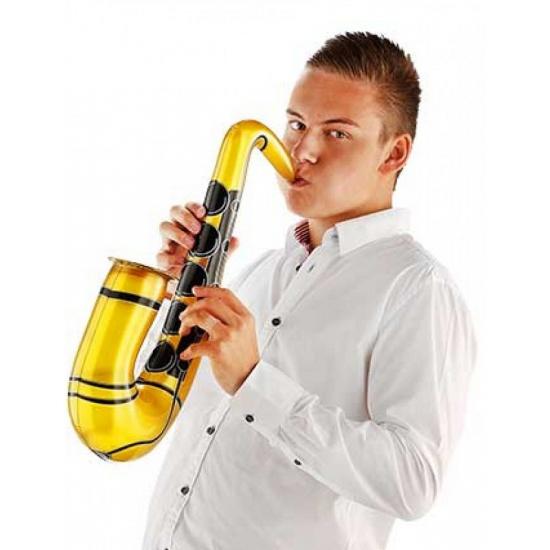 Gouden opblaasbare saxofoon