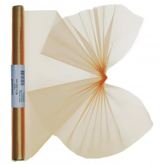 Gouden organza stof 40 x 200 cm