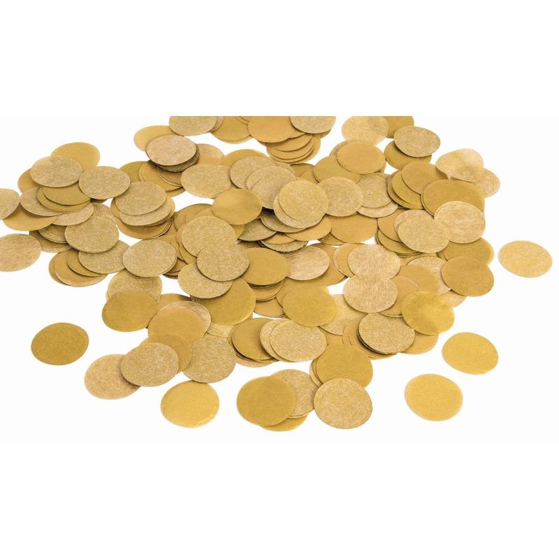 Gouden papieren confetti groot 22 gram