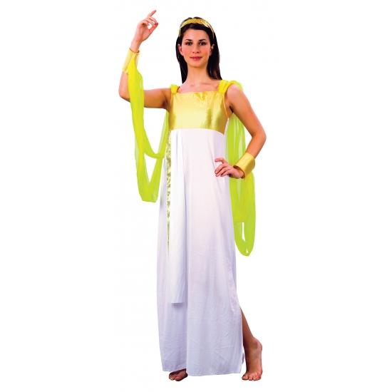 bd75b5729b373d Godinnen jurk wit goud. lange godinnen jurk voor dames in het wit met goud