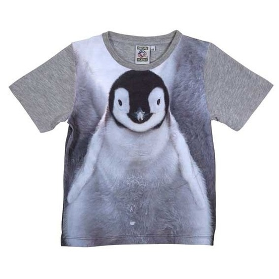Grijs t-shirt met pingu?n voor kinderen