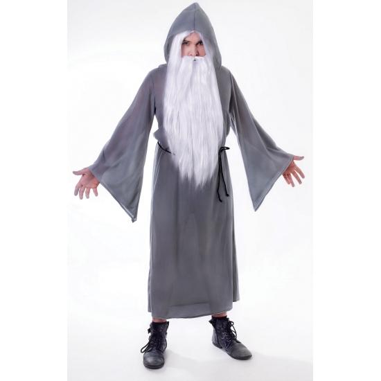 Grijs tovenaar kostuum volwassenen