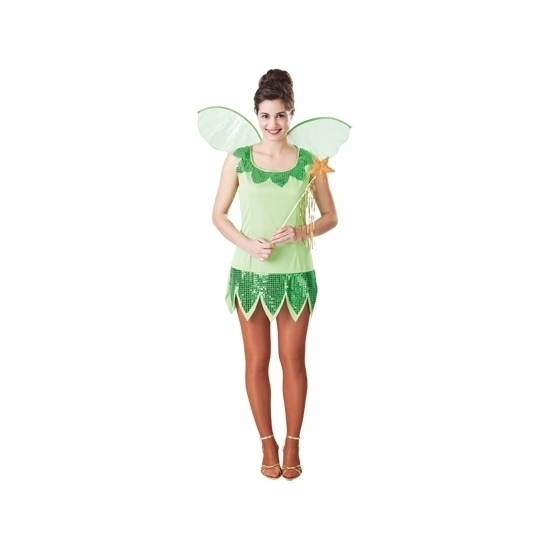 Groen elf jurkje voor dames