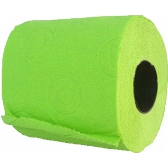 Groen gekleurd wc papier