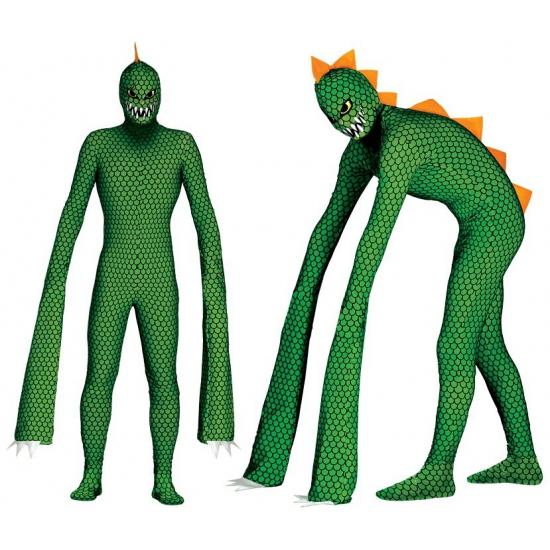Groen reptielen pak voor mannen