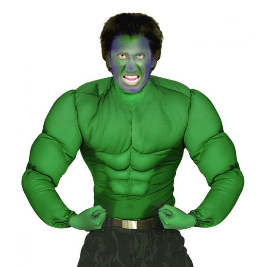 Groen spierballen shirt voor heren
