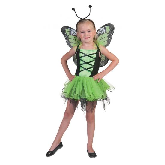 Groen vlinder jurkje voor meisjes