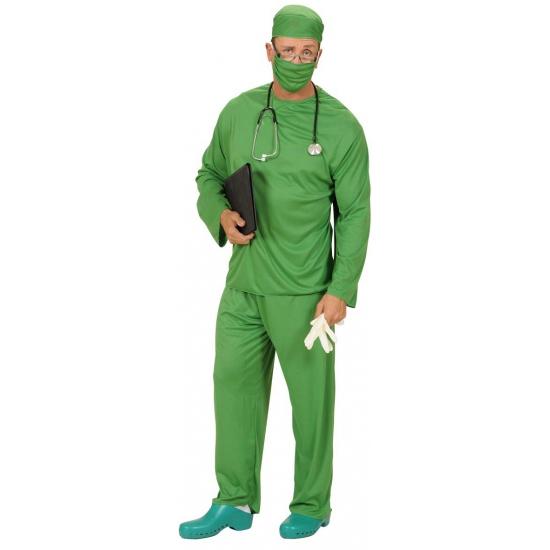 Groene chirurg carnavalskleding
