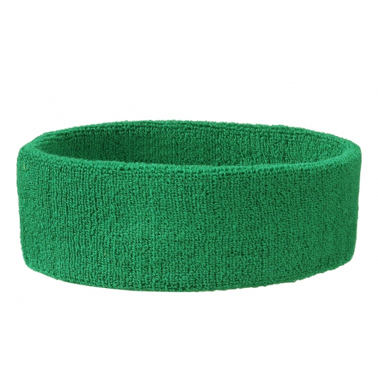 Groene hoofd zweetbanden