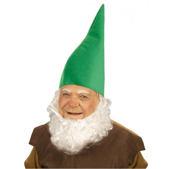 Merkloos Groene kabouter verkleed hoed