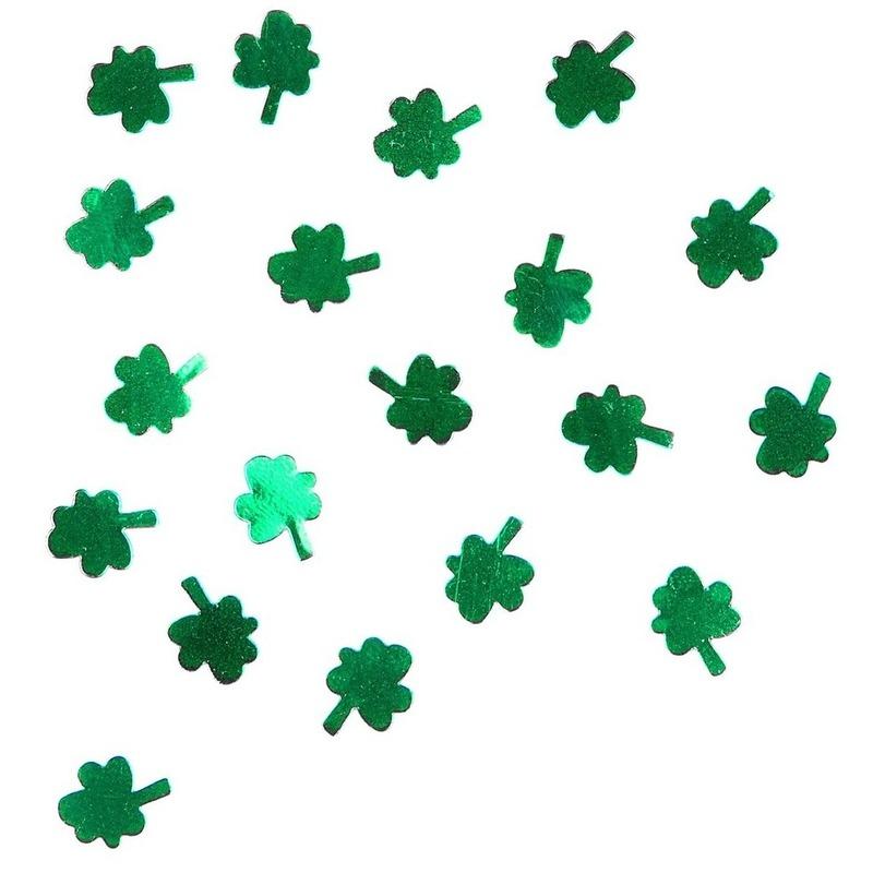 Groene klavertjes confetti 15 gram