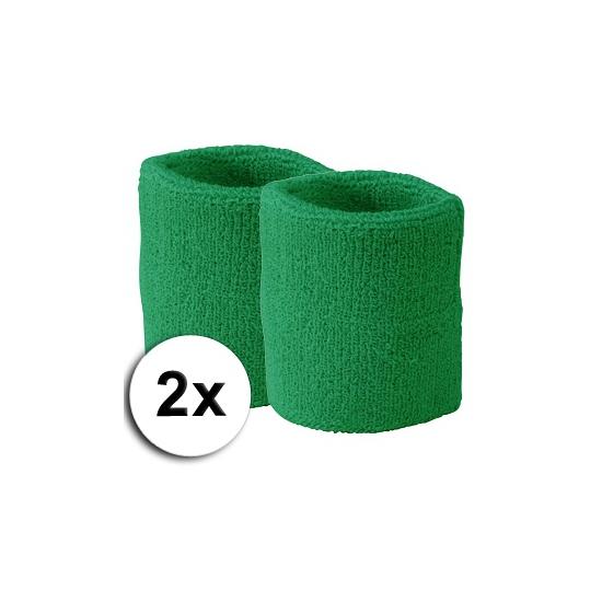 Groene polsbandjes 2 x