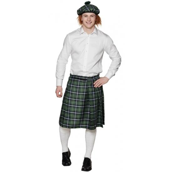 Groene Schotse verkleed kilts voor heren