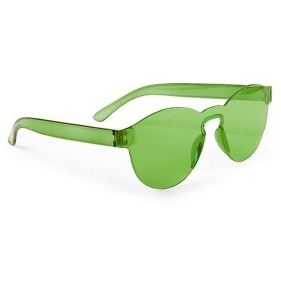 Groene verkleed zonnebril voor volwassenen