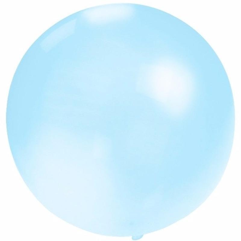 Grote ballon 60 cm baby blauw