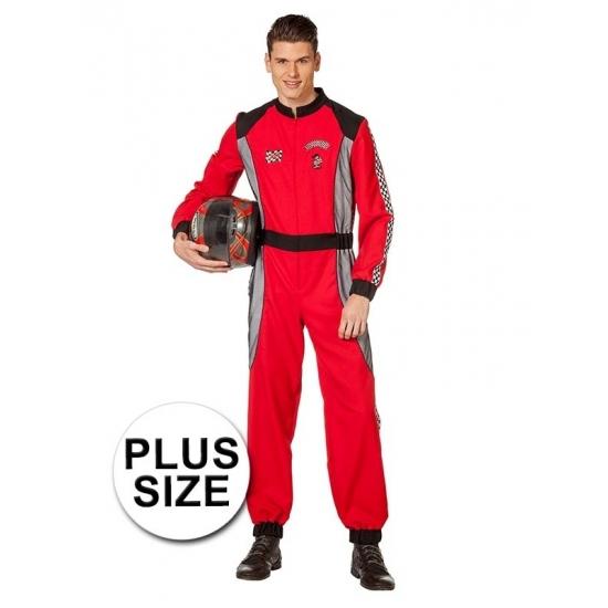 Grote maat Formule 1 coureur kostuum voor heren