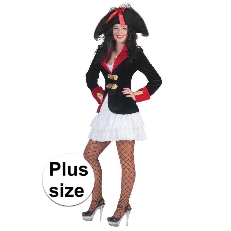 Grote maat piraten jurkje en colbert voor dames