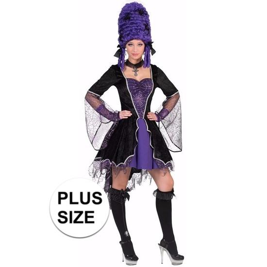 Grote maten paarse heks/vampier verkleedjurk voor dames