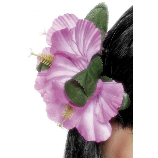 Haarclip Hawaii roze bloemen