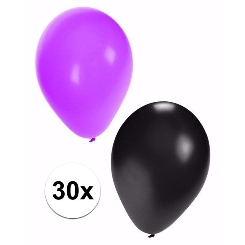 Halloween ballonnen 30 stuks zwart/paars