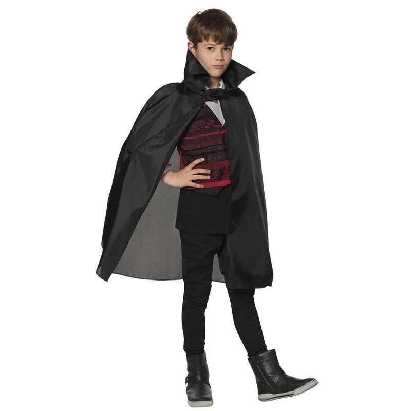 Merkloos Halloween dracula cape voor kinderen