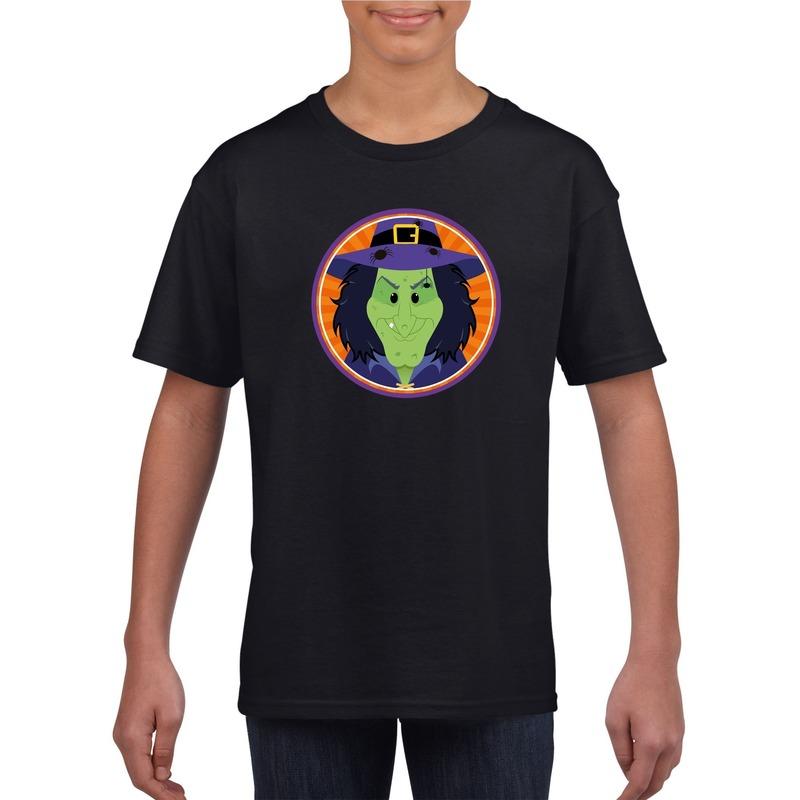 Bellatio Decorations Halloween heks t-shirt zwart kinderen