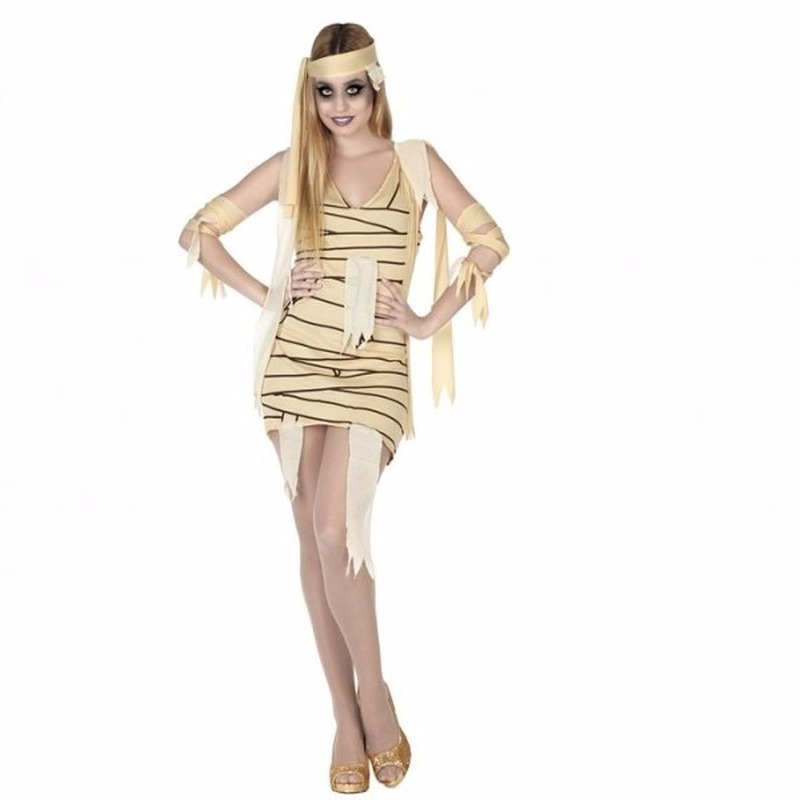 Merkloos Halloween mummie jurkje voor dames