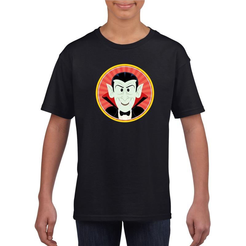Bellatio Decorations Halloween vampier/Dracula t-shirt zwart kinderen
