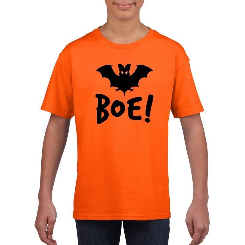 Bellatio Decorations Halloween vleermuis t-shirt oranje kinderen