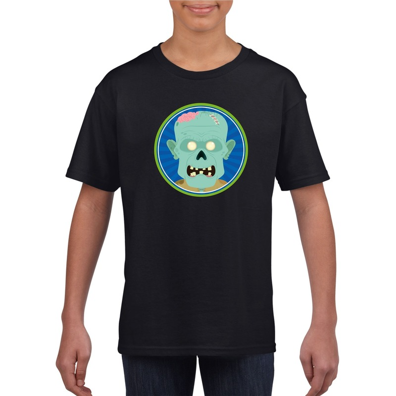 Bellatio Decorations Halloween zombie t-shirt zwart kinderen