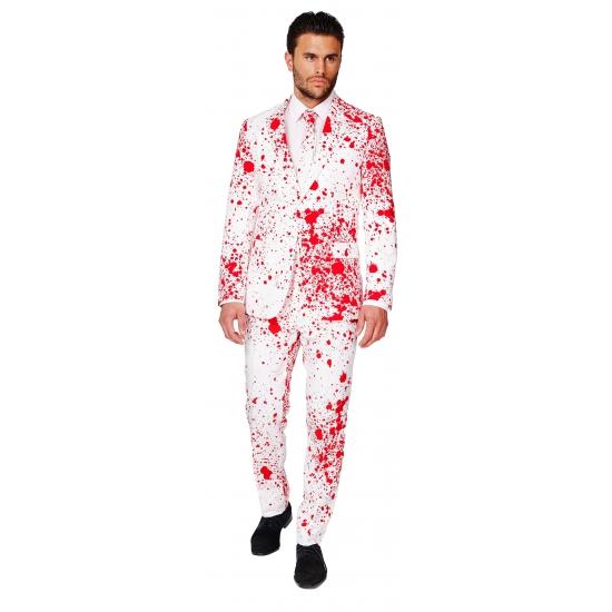 Halloweenpak met bloedspatten print