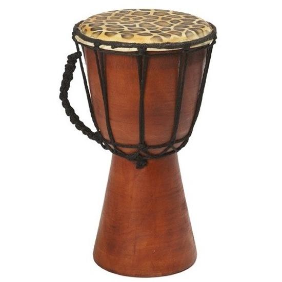 Handgemaakte drum/trommel met giraffeprint 25 cm