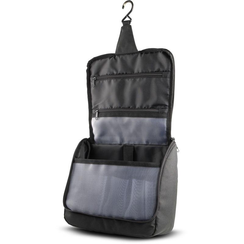 Hangende toilettas/make-up tas zwart 23 cm voor heren/dames