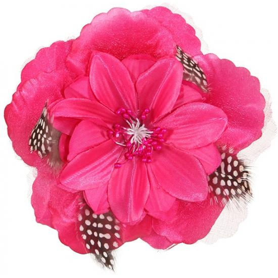 Hawaii haarbloem roze