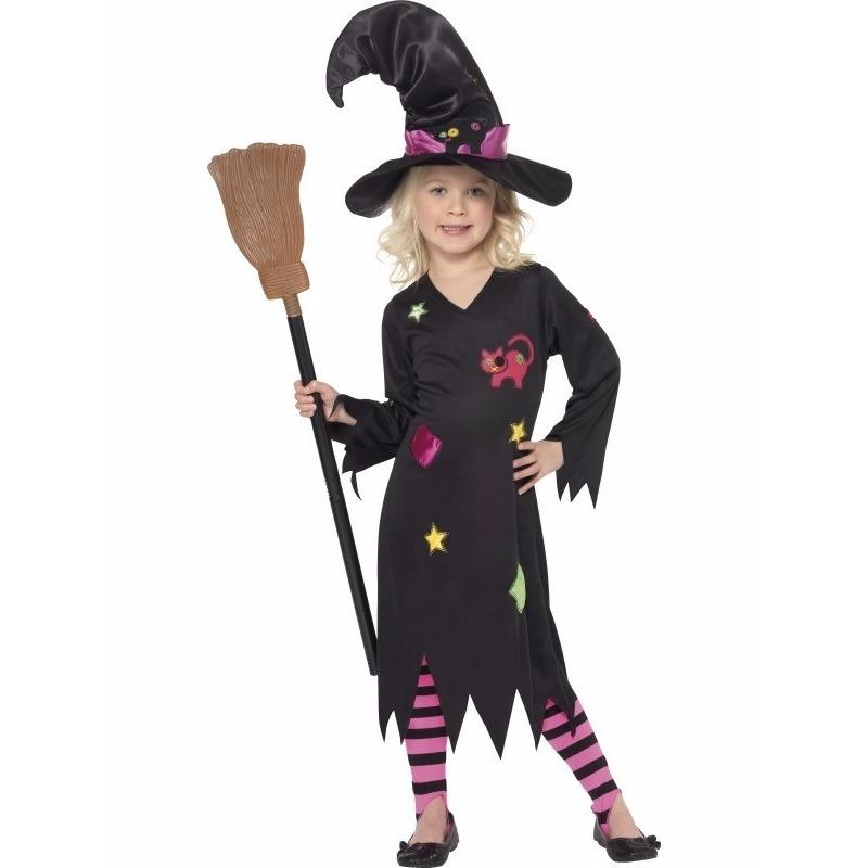 Heksen verkleedkleding Rosa voor meisjes