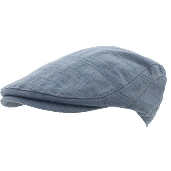 Heren flat cap steen blauw