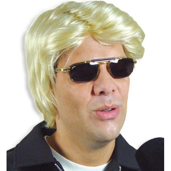 Herenpruik blond gladde jongen