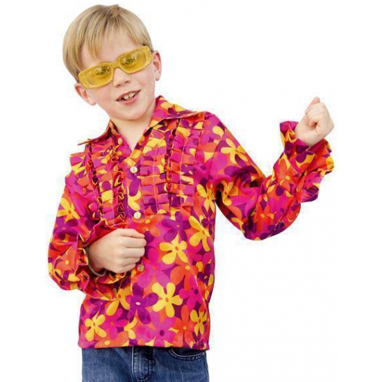 Merkloos Hippie blouse met rouches voor kinderen