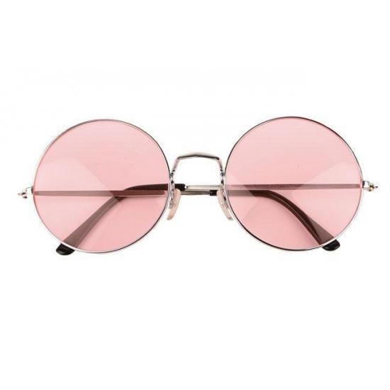 Hippie - flower power XL bril roze