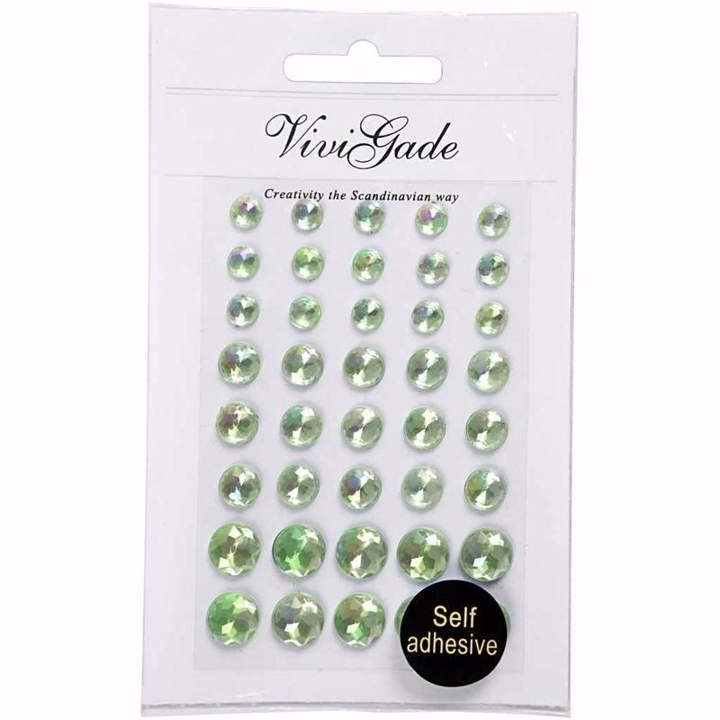 Hobby groene plak parels 40 stuks
