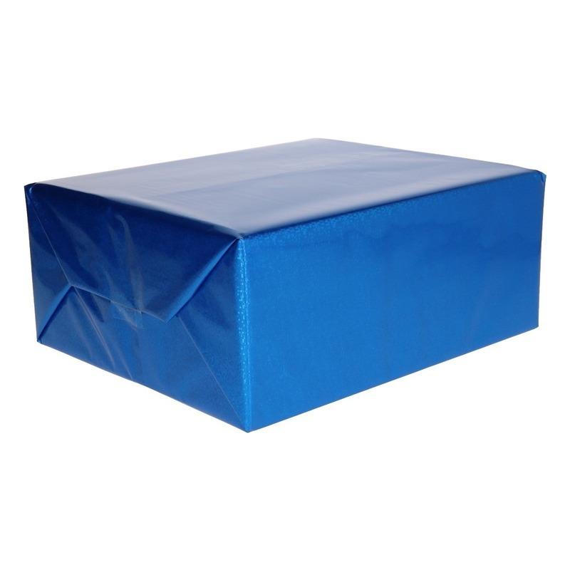 Holografische blauw metallic hobbyfolie 70 x 150 cm
