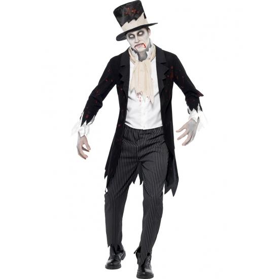 Horror bruidegom kostuum met hoed