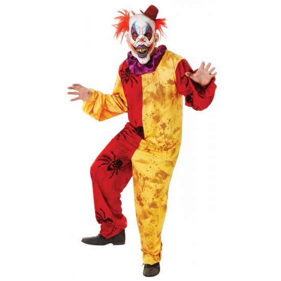 Horror oufit clown geel met rood