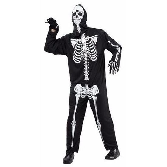 Horror skelet kostuum voor volwassenen